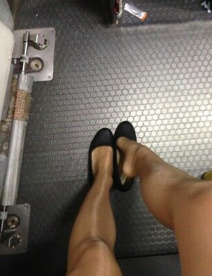 Glossy Cabin Crew Tights Nude