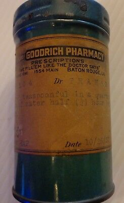 Vintage Goodrich Pharmacy tin Baton Rouge 1937  Powder TIN CAN
