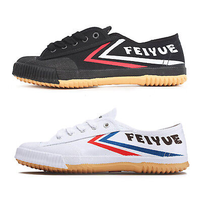 Feiyue Chinese Wushu Canvas Kung Fu Wushu Tai Chi Shoes Sneaker White Black Hot