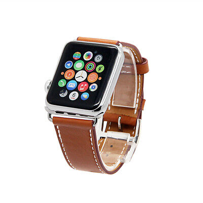 Brand New Genuine Leather Apple Watch Bands 38/42 Series 1,2,3 Free Shipping