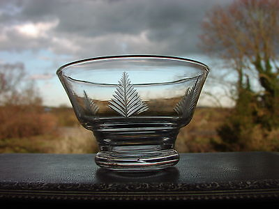 "Stuart Cut Glass Crystal ""Woodchester"" Small Fern Pattern Bowl"
