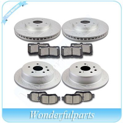 Fit 2009 2010 2011 - 2012 Lexus IS250 Front Rear Brake Discs Rotors Ceramic Pads