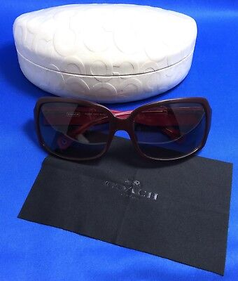 Coach Phoebe Burgundy Sunglasses With Case (S491)