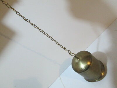 Large brass Tibetan style bell on chain.