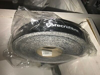 Tecnifibre Pretect tape 50m roll - Tennis Racket Tape - Black - Free P&P