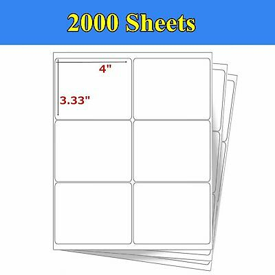 LABELS 8 5X5 5 500 Shipping Postage Labels Half Sheet Self-Adhesive
