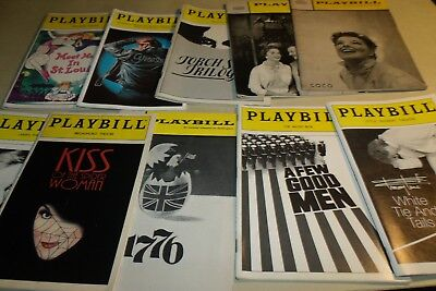Lot of 10 Vintage Playbills MEET ME IN ST. LOUIS Grease A FEW GOOD MEN etc.