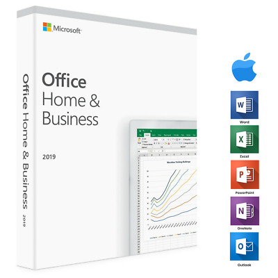 Office 2019 Home and Business for MAC in Box - 1 MAC | WITH SEALED BOX
