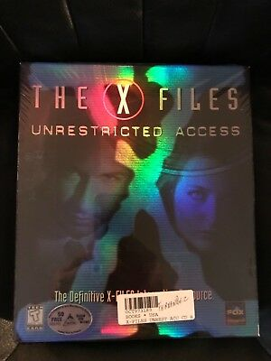 """THE X-FILES """"UNRESTRICTED ACCESS"""" 1997 Windows 95 PC CD-ROM Brand New SEALED"""