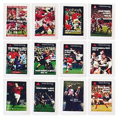12 x Rugby annuals for Wales (1984 - 2007)