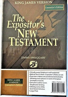 "The Expositor's New Testament ""counselor's Edition"" Kjv Jimmy Swaggart"