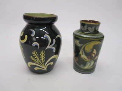 DEVON WARE Babbacombe Torquay and Exeter Pottery Vases