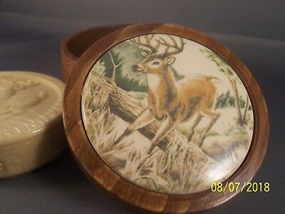 Avon Vintage Wild Country Soap in a Wooden Box With Deer Embellishment