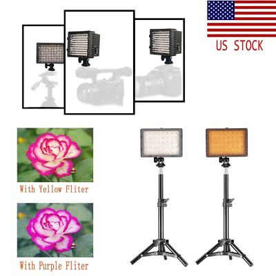 160 LED Video Studio Light Kit Photography Light Stand Set for Camera Camcorde