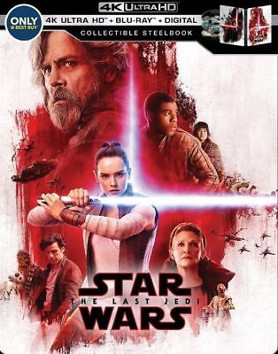 Star Wars: The Last Jedi 4K - Ltd. Ed. Steelbook [4K Ultra HD + Blu-ray] New!!