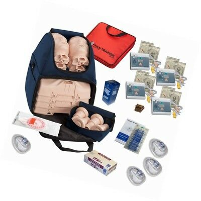 MCR Medical CPR Training Kit w/ Prestan Ultralite Manikins, WNL AED Trainers