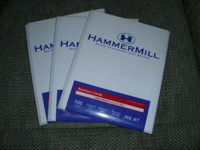 Hammermill Business Card Ink Jet 3.5 X 2 Corporate Blue Sheets 4 Packs
