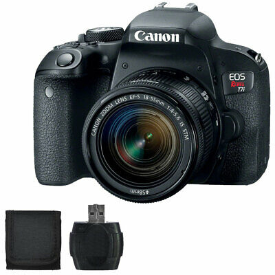 Canon EOS Rebel T7i 24.2MP DSLR Camera Black with EF-S 18-55mm IS STM Lens