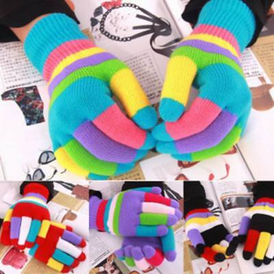 Candy Colors Autumn Winter Thermal Kids Gloves Keep Warm Fashion Acrylic Mittens
