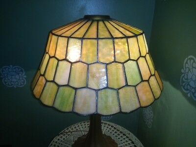 Stunning Unique Arts Leaded Lamp shade-Handel Tiffany arts crafts stained glass