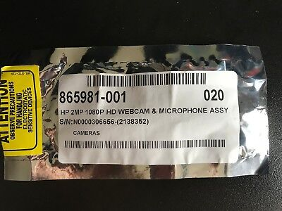 Hp 2Mp 1080P Hd Webcam And Microphone Assy - Hp 865981-001