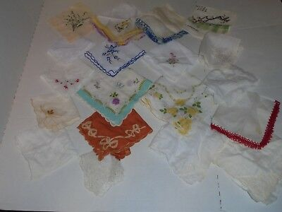 Lot Of 19 vtg ladies handkerchiefs hankies