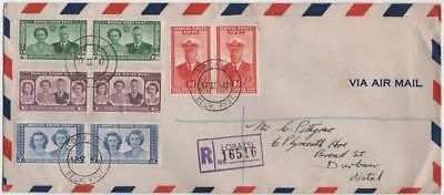BECHUANALAND: 1947 Examples on Registered Airmail Cover to Durban (18282)