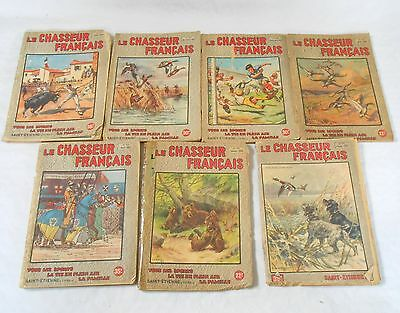Vintage French lot of 7 le chasseur francais magazines/booklets