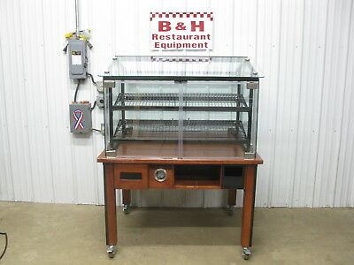 "Marco 48"" Self Serve Glass Door Bakery Donut Dry Display Show Case 4'"