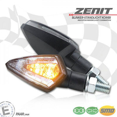 SMD Blinker Slight orange Blinkfunktion V H get/önt M8 L51 x B14 x H21 mm E-gepr/üft Motorrad Bike