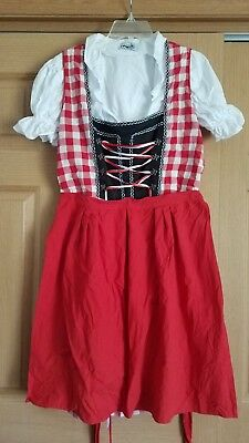 3 piece Dirndl Red and Black T.Point 44