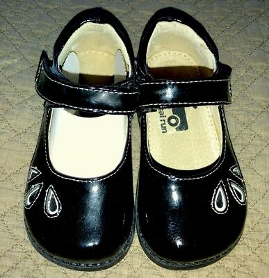 See Kai Run BLACK PATENT SHOES sz 7 Mary Janes Dressy Toddler Girls