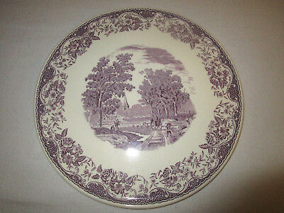 "Antique Royal Tudor Ware Lavender Cake Plate Platter 11"" Barker Bros. Ltd."