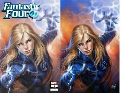 FANTASTIC FOUR 1 LY 646 LUCIO PARRILLO SUE STORM VIRGIN VARIANT SET 1st ERADIKUS