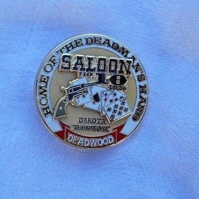 Saloon # 10 Deadwood South Dakota  Commemorative Pin Wild Bill Hickock
