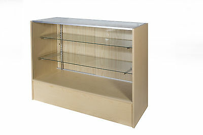 Glass Display Counter 1500L- Beech/Timber