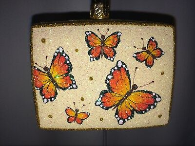 Patricia Breen Christmas ornament, Greetings Butterflies, From Borsheim's 2005