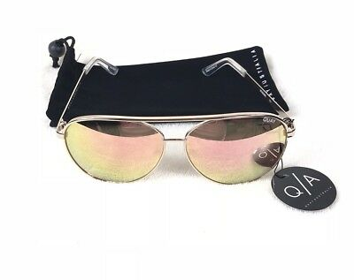 124823b05a Quay Australia Vivienne Womens Sunglasses Gold And Rose Champagne Mirror  Aviator