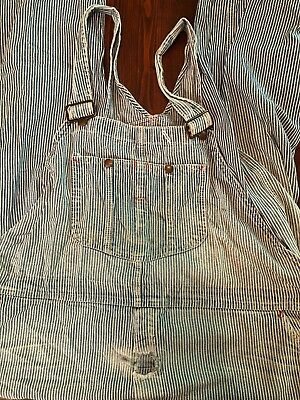 Lot Of 2 Pair Of Vintage Montgomery Ward Brand Mens Denim Overalls