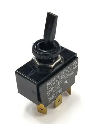 Carling 2GB51-D1BB SPDT ON-ON Nylon Toggle Switch 15A 125VAC, 10A 250VAC 3/4HP