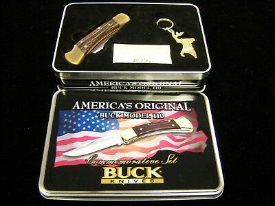 Buck Knives 110Usa Commemorative Set