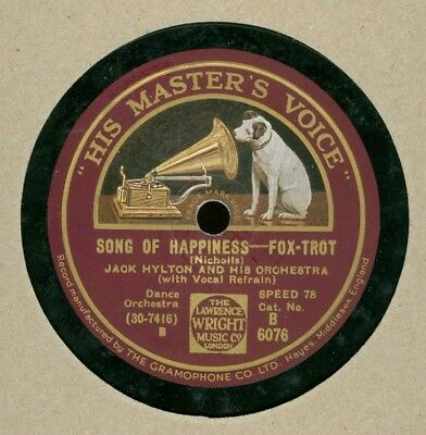 JACK HYLTON HMV Schellack Song of Happiness / When the circus comes to town