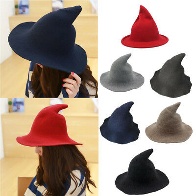 1008dcd0dbd Womens Sharp Pointed Wool Witch Hat Cap Made From High Quality Sheep  Halloween