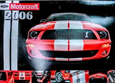 2006 Motorcraft  calendar with 2007-2009 mustang shelby cobra gt500 on coverRare