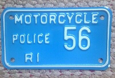 Rare Rhode Island Vintage Municipal Police Motorcycle Cycle License Plate # 56