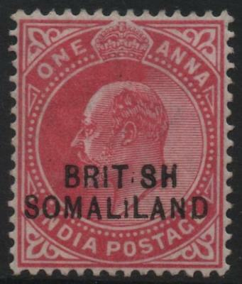 SOMALILAND: 1903 - Sg 07(var) - 1a Carmine Official Mounted Mint Example (18150)