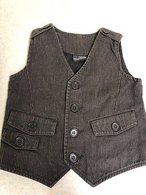 Baby boy clothes 18-24 months NEXT Pin Stripped Waistcoat