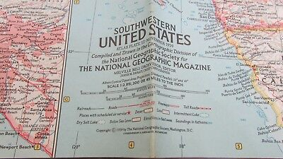 Original Novembe 1959 National Geographic Society SOUTHWESTERN UNITED STATES map