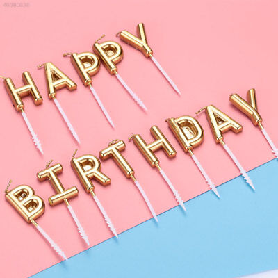 7F30 HAPPY BIRTHDAY Letter Candle Cake Topper Gift Party Supplies Decoration