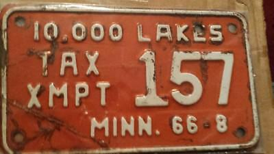 Minnesota motorcycle license plate 1966
